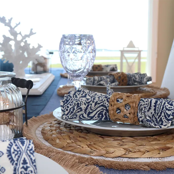 Blue and White Decor Touches Refresh My Dining Room