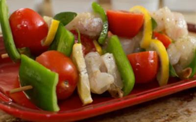 Halibut and Shrimp Kebabs