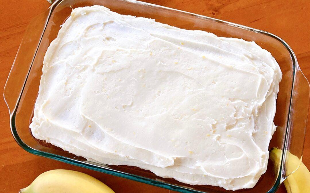 Banana Cake With Lemon Buttercream Frosting