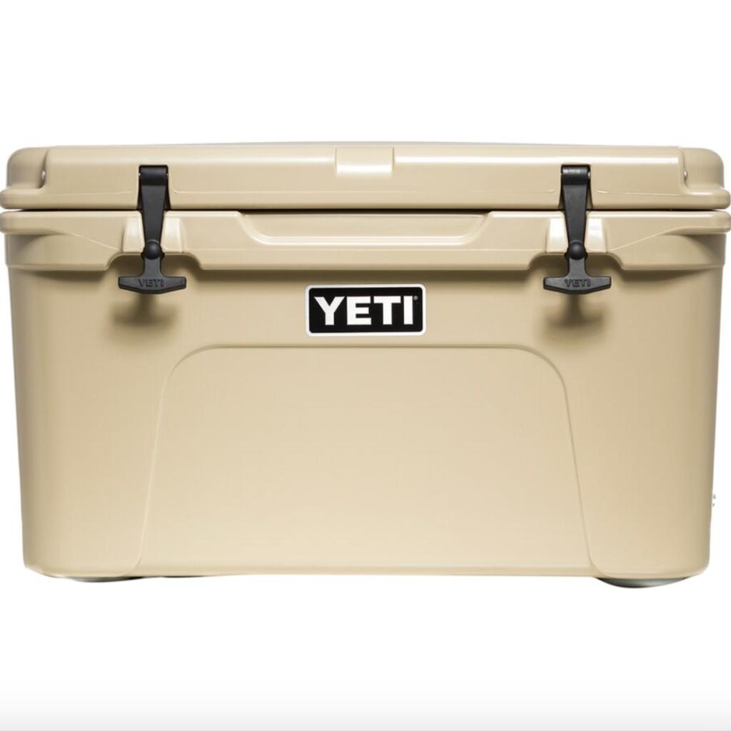 YETI cooler for backyard bbq