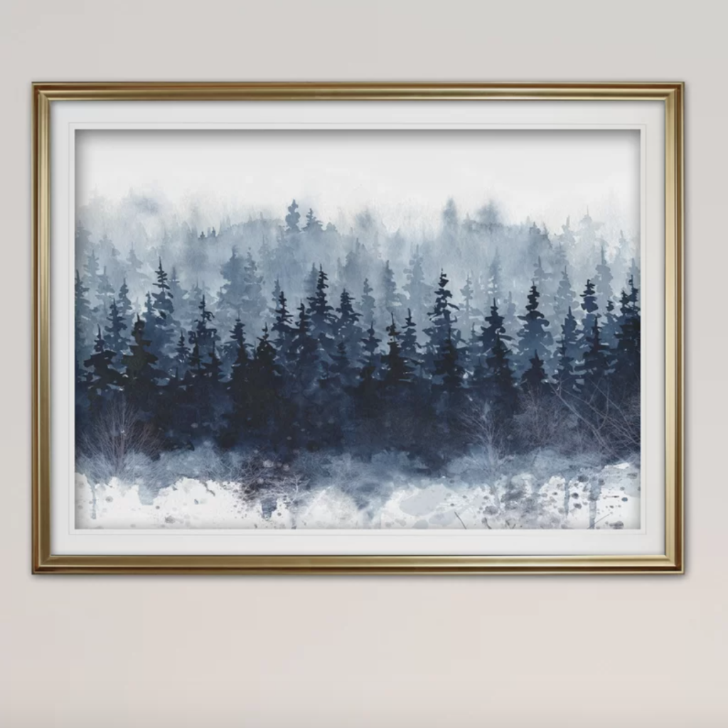 guest room mountain painting