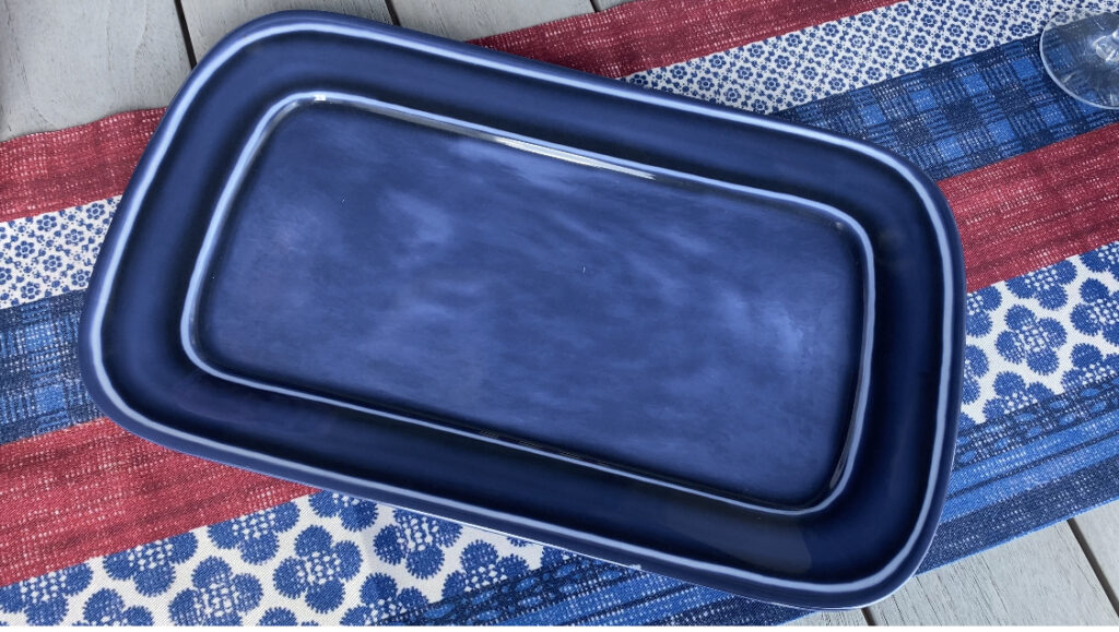 blue tray for summer party