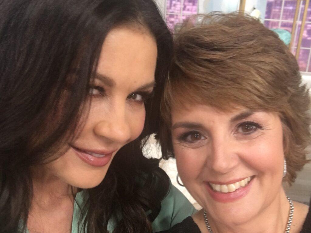 Catherine Zeta Jones and lifestyle expert Jill Bauer on QVC