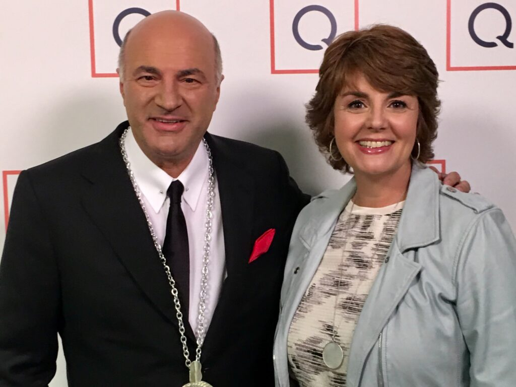 Jill Bauer and Kevin O'Leary from Shark Tank