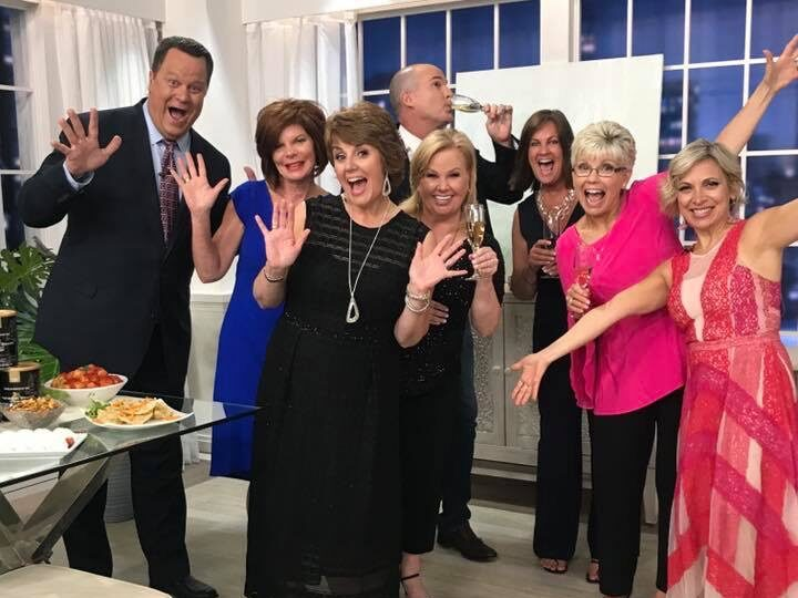Guests and hosts at QVC