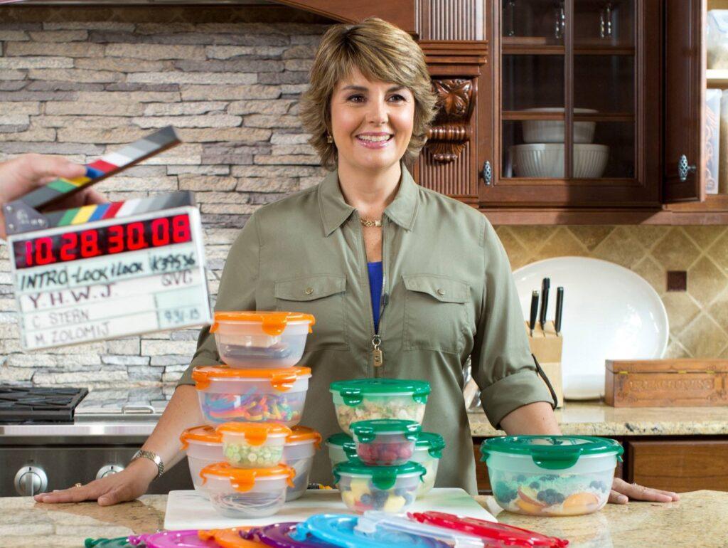 Lifestyle expert Jill Bauer on set at QVC