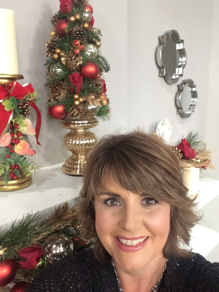 on the QVC set for Christmas in July