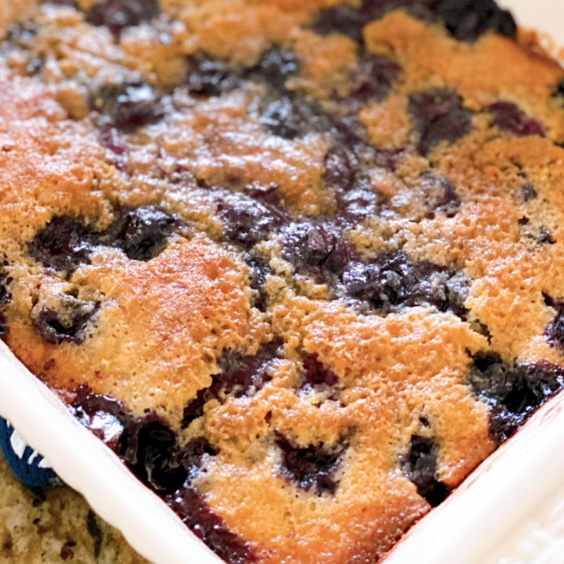 Blueberry cobbler: Low-fat blueberry muffins