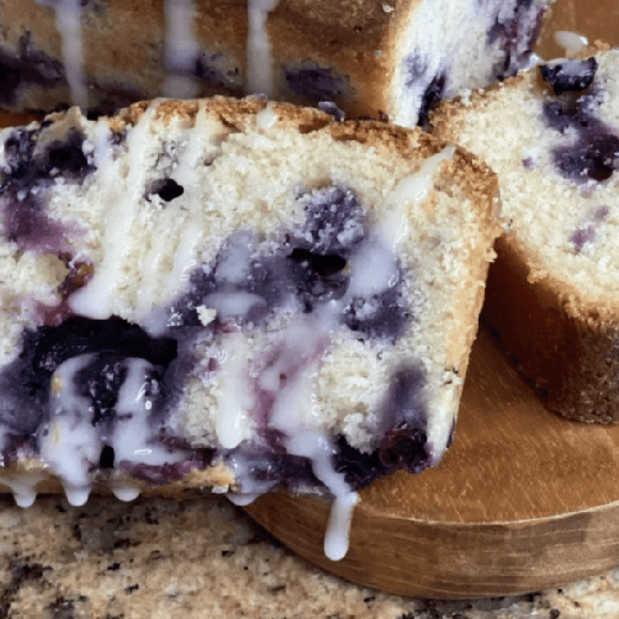 Blueberry pound cake: Low-fat blueberry muffins