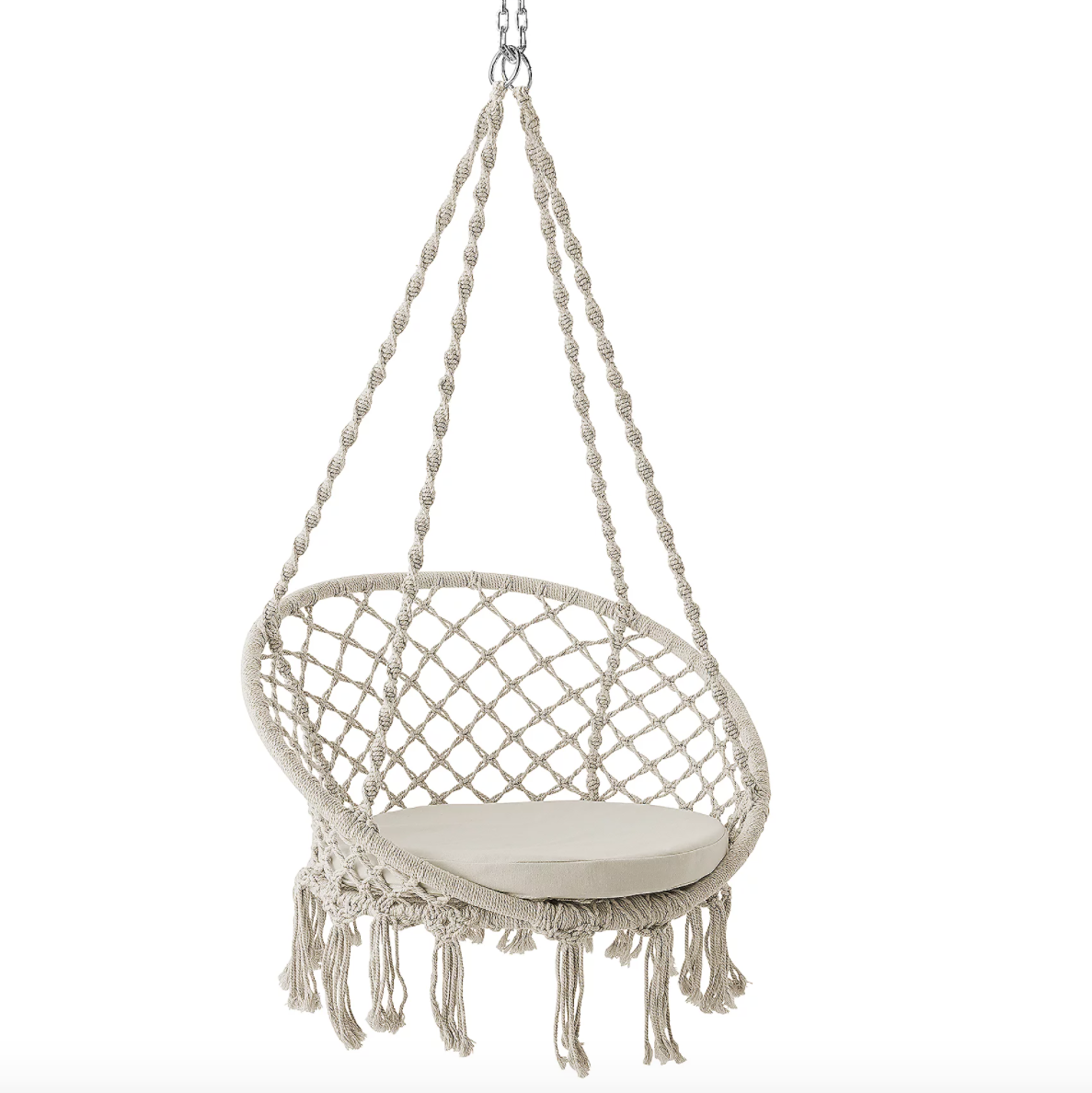 outdoor summer fun rope swing hammock