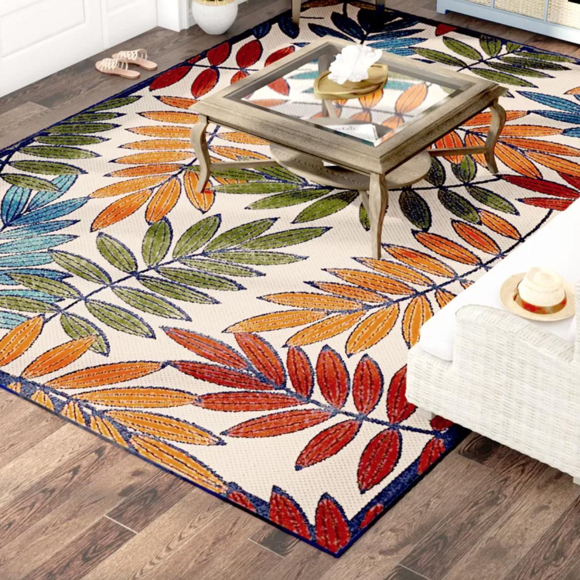 outdoor summer fun rug
