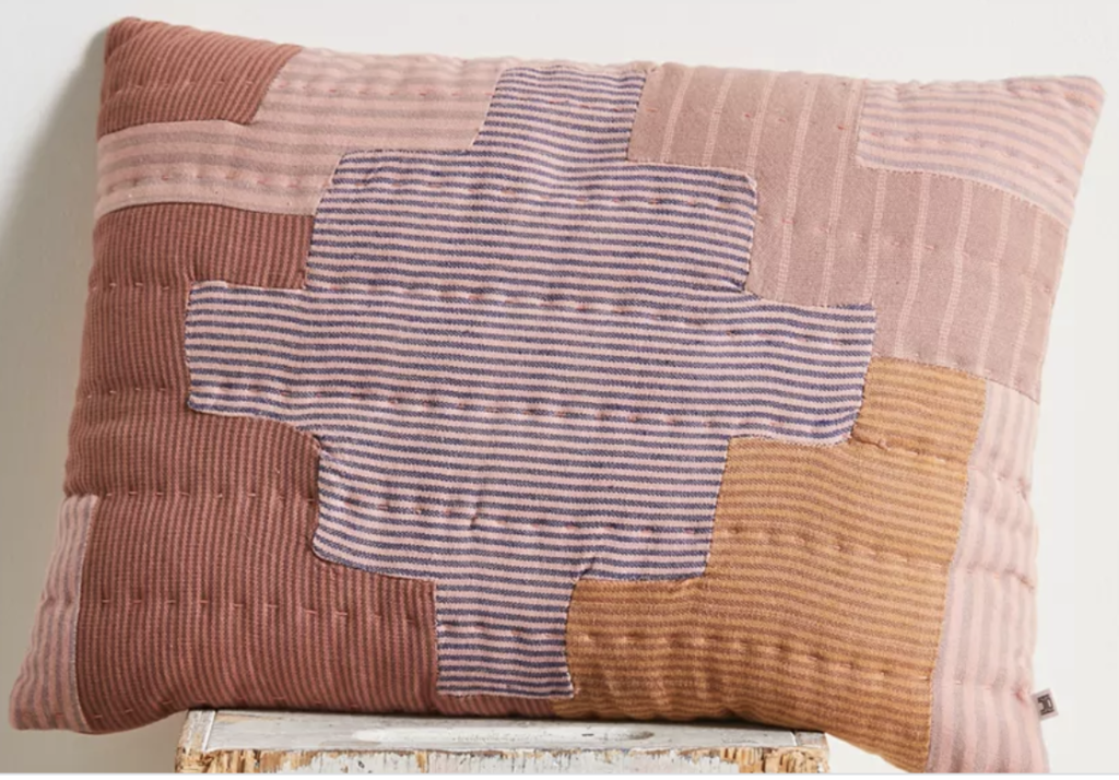 quilted decorative pillow