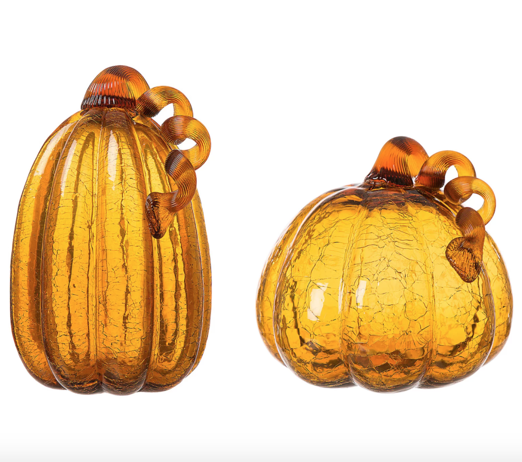 fall clearance amber pumpkins