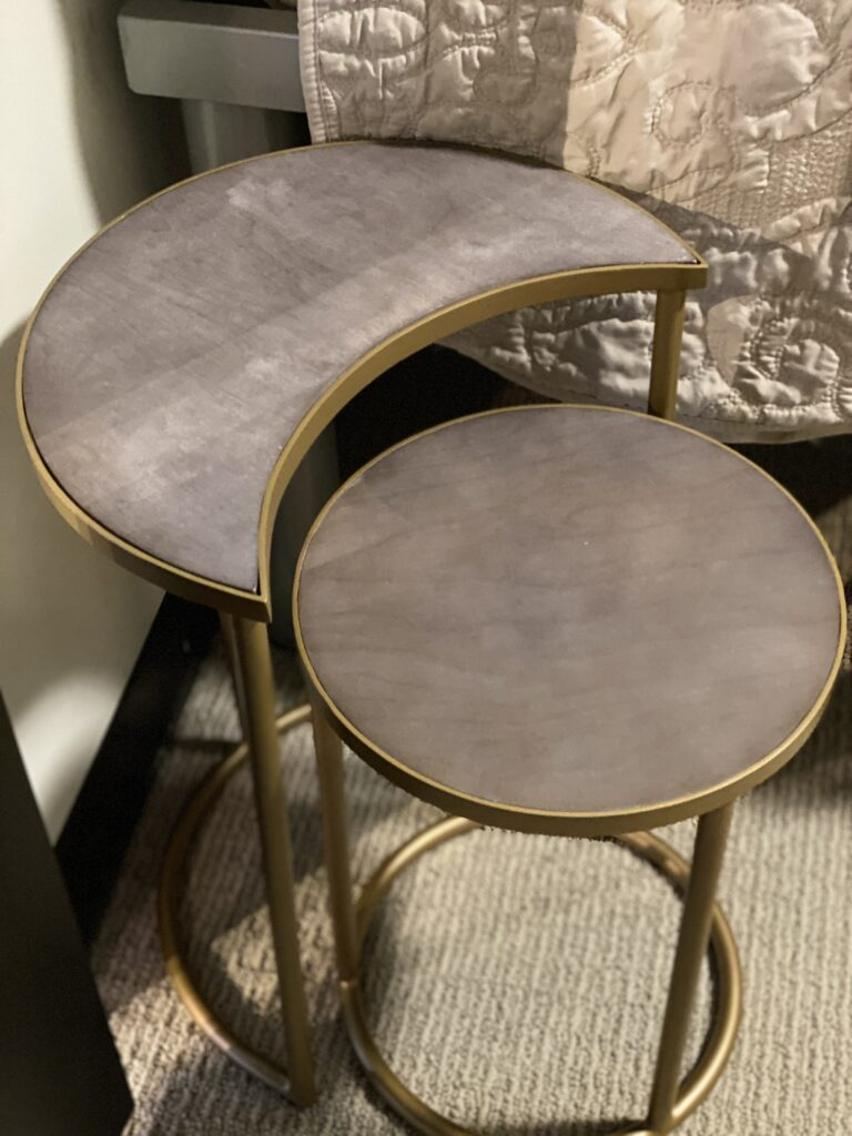 sun and moon nesting tables for small spaces in apartments