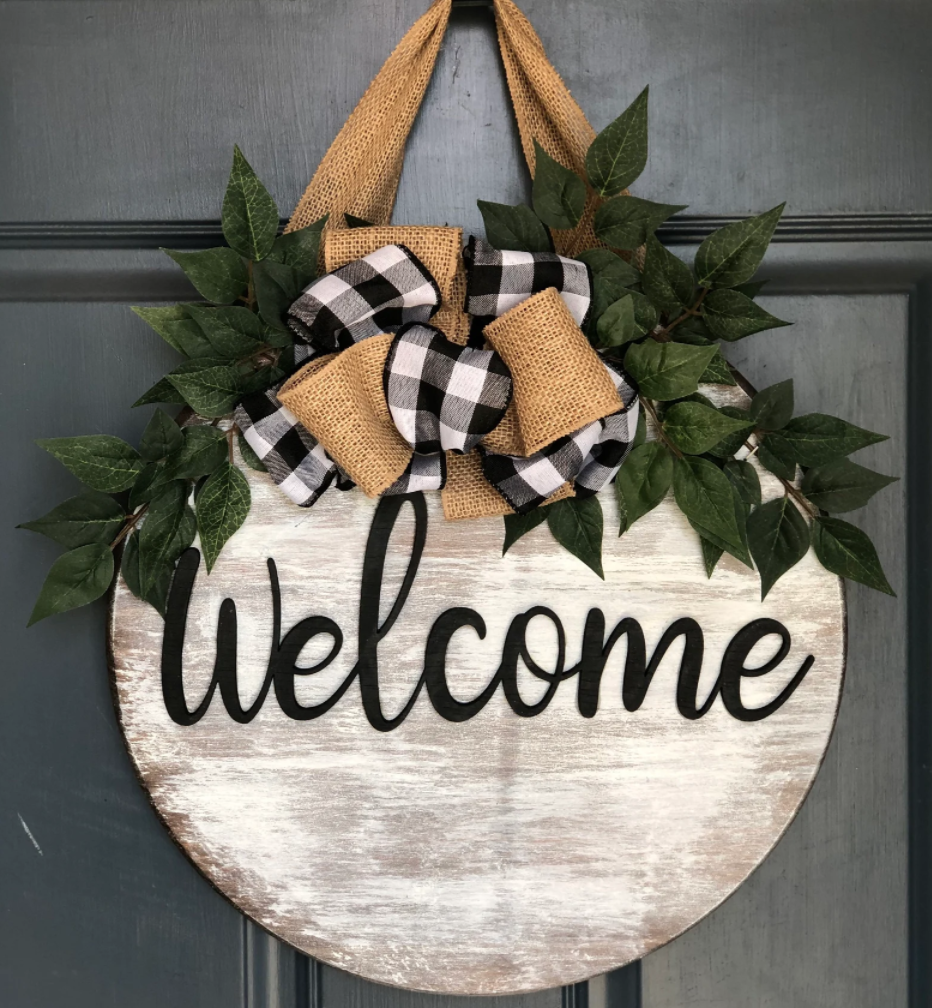 welcome sign for home